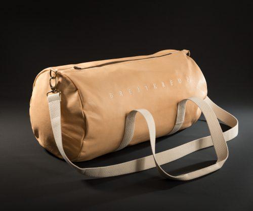 Breitkreuz Sporttasche aus naturbelassenem Leder