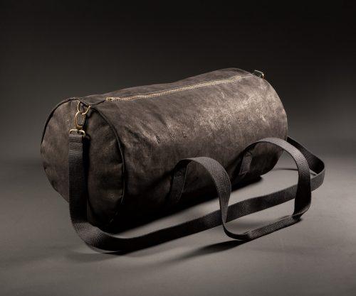 Breitkreuz Sporttasche aus schwarzem Leder