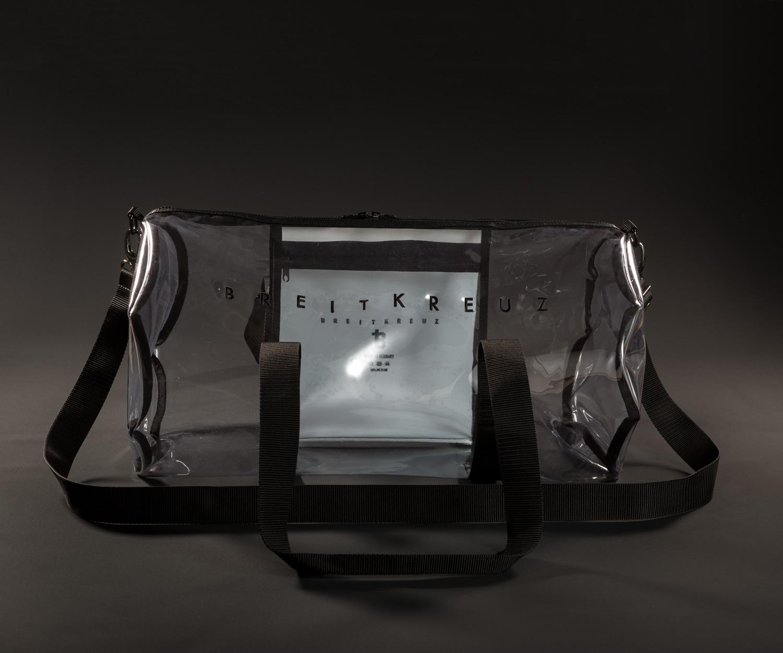 Breitkreuz Sporttasche aus transparentem Planenstoff
