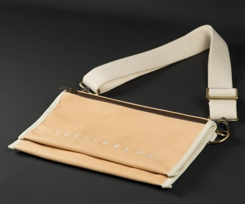 Breitkreuz Brusttasche Leder Natur