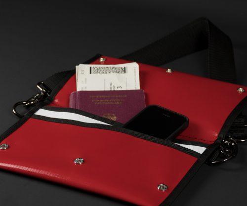 Breitkreuz Brusttasche Plane Rot