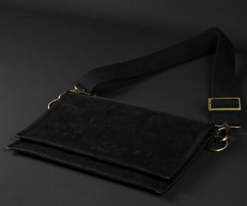 Breitkreuz Brusttasche Leder Schwarz