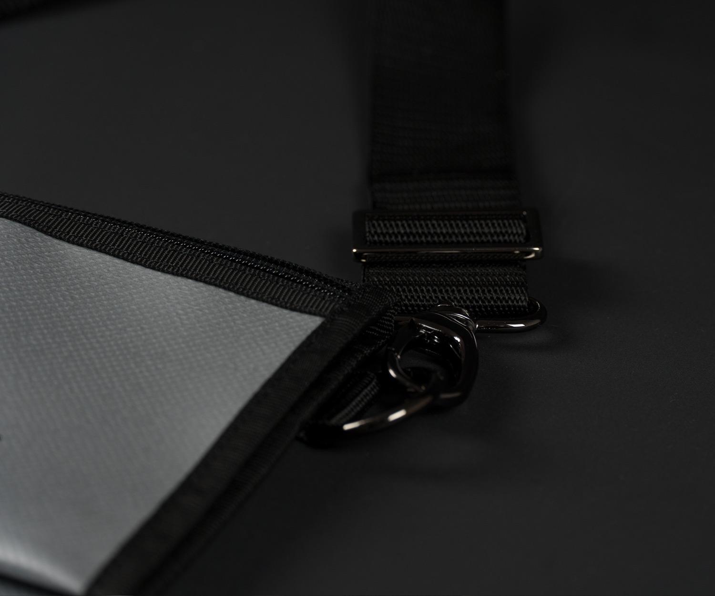Breitkreuz Brusttasche Plane Silber